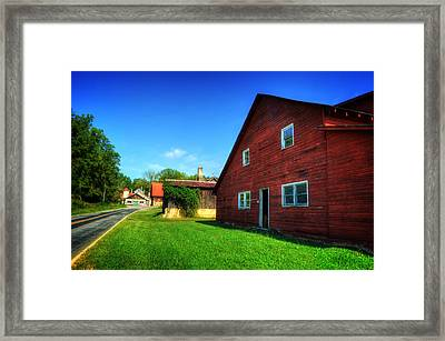 Red Barn And Blacksmith Shop Framed Print