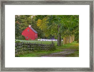 Red Barn At Appleton Framed Print by David Stone