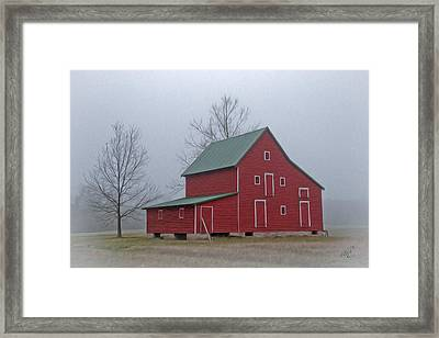 Red Barn At Ware Neck Framed Print by Williams-Cairns Photography LLC