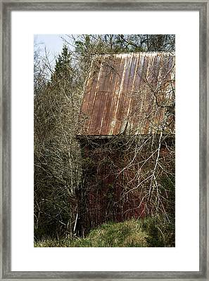 Framed Print featuring the photograph Red Barn - Dares Beach Road by Rebecca Sherman