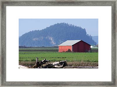 Framed Print featuring the photograph Red Barn by Erin Kohlenberg