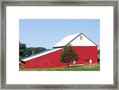 Framed Print featuring the photograph Red Barn by Gena Weiser