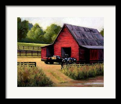 Barn In Leipers Fork Framed Prints