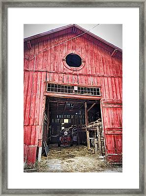 Red Barn Framed Print