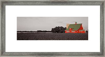 Red Barn, Kankakee, Illinois, Usa Framed Print by Panoramic Images