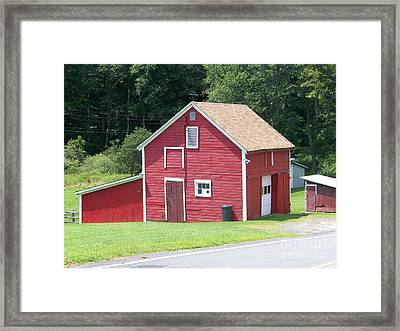 Red Barn Framed Print by Kevin Croitz