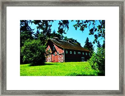Framed Print featuring the photograph Red Barn  by Mindy Bench