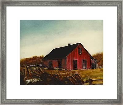 Red Barn   Number 2 Framed Print by Diane Strain