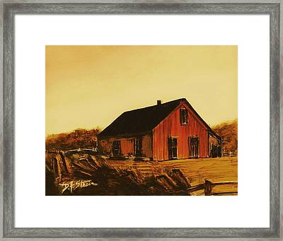 Red Barn   Number 6 Framed Print by Diane Strain