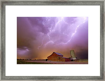 Red Barn On A Farm And What A Beautiful Sight Framed Print by James BO  Insogna