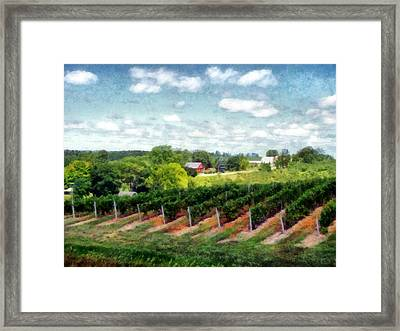 Red Barn On Old Mission Peninsula Framed Print by Michelle Calkins