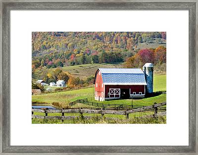 Framed Print featuring the photograph Red Barn by Robert Camp