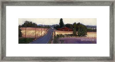 Red Barn - Rural Oregon Framed Print
