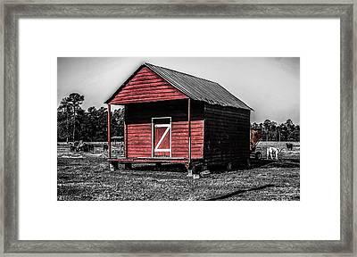 Red Barn  Framed Print by Steven  Taylor