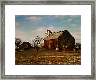 Red Barn - Waupaca County Wisconsin Framed Print