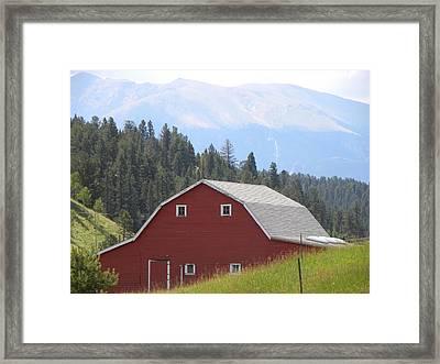 Barn - Pikes Peak Burgess Res Divide Co Framed Print