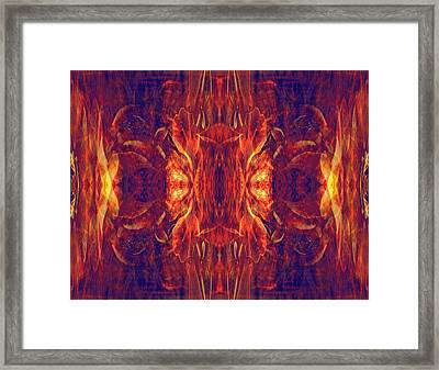 Red Baroque Framed Print