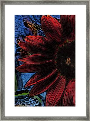 Red Be There Pencil Drawing Framed Print by Scott Campbell