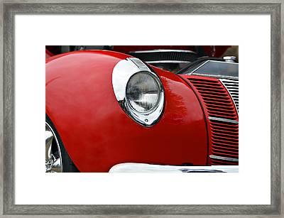 Red Beauty Framed Print by Susan Leggett