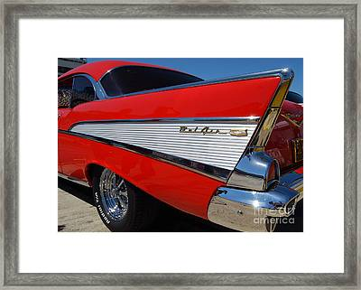 Red Belair Fins Framed Print
