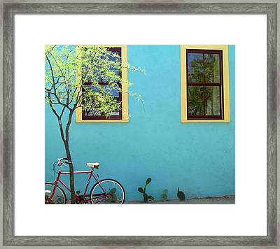 Red Bicycle Framed Print