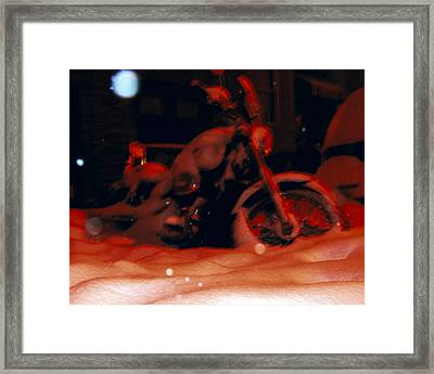 Red Bike Framed Print by Mieczyslaw Rudek Mietko