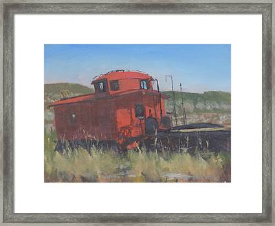 Red Framed Print by Bill Tomsa