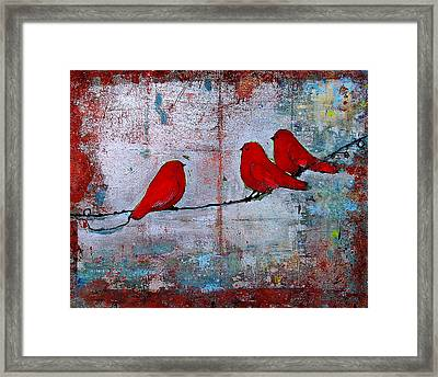 Red Birds Let It Be Framed Print