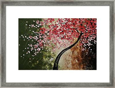 Red Blossoms  Framed Print by Tomoko Koyama