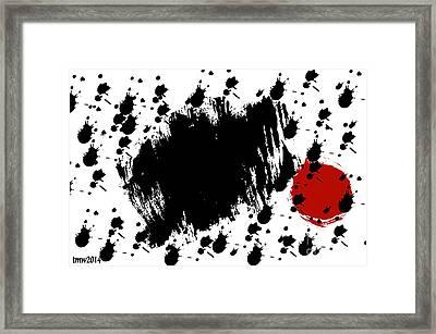 Red Blot Dark Blots Framed Print