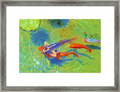 Sea Of Hearts Framed Print by Viktor Savchenko