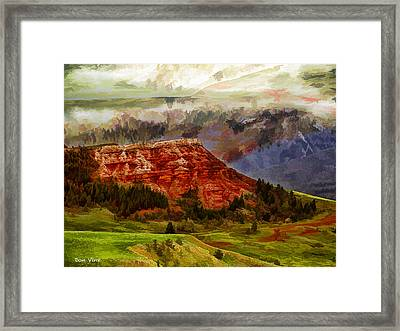 Red Bluff Fantasy Framed Print