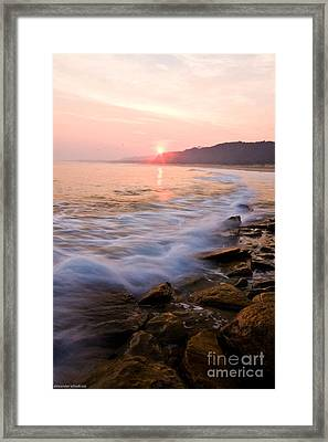 Red Bluff Lake Tyers Framed Print by Alexander Whadcoat