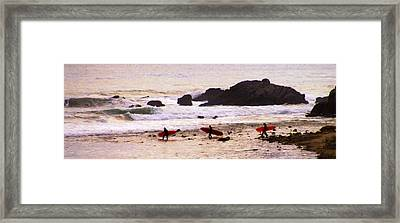 Red Boards Framed Print by Ron Regalado