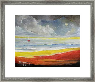 Red Boat,8x10in. Framed Print