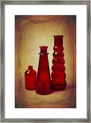 Red Bottles Still Life Framed Print