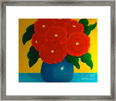 Red Bouquet Framed Print by Anita Lewis