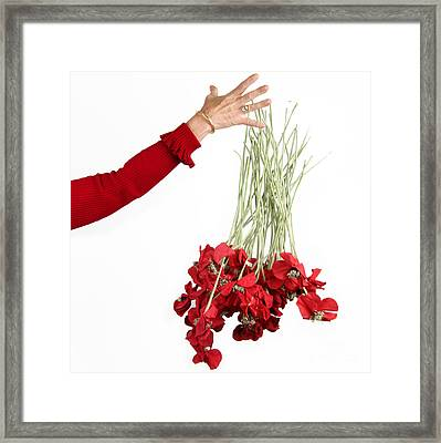 Red Bouquet Framed Print