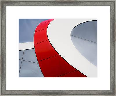 Red Bow Framed Print by Luc Vangindertael
