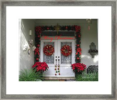 Red Bows 2 Framed Print by Michael Anthony