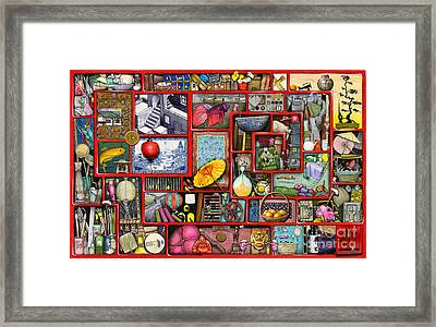 Red Box Framed Print by Colin Thompson