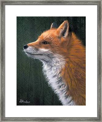 Framed Print featuring the drawing Red by Brent Ander