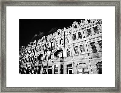 Red Brick Apartment Building Upper New York City Framed Print