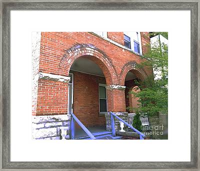 Framed Print featuring the photograph Red Brick Archway by Becky Lupe