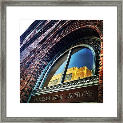 Red Brick Reflection Framed Print by Natasha Marco