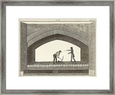 Red Bridge Excavations Framed Print by Middle Temple Library