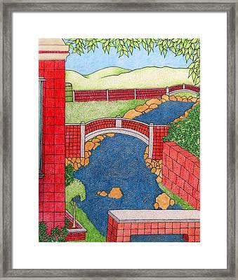 Red Bridges Framed Print