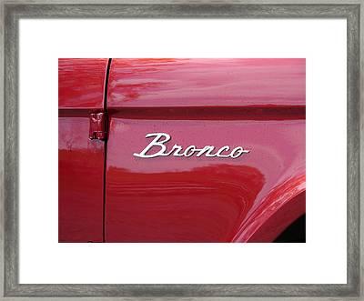 Red Bronco I Framed Print by Richard Reeve