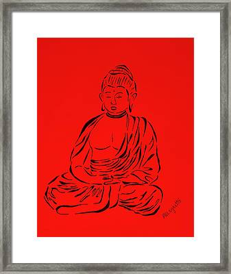 Red Buddha Framed Print by Pamela Allegretto