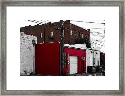Red Building Framed Print by Nathan Hillis
